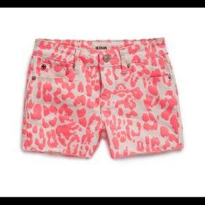 Hudson Leopard Print Denim Shorts